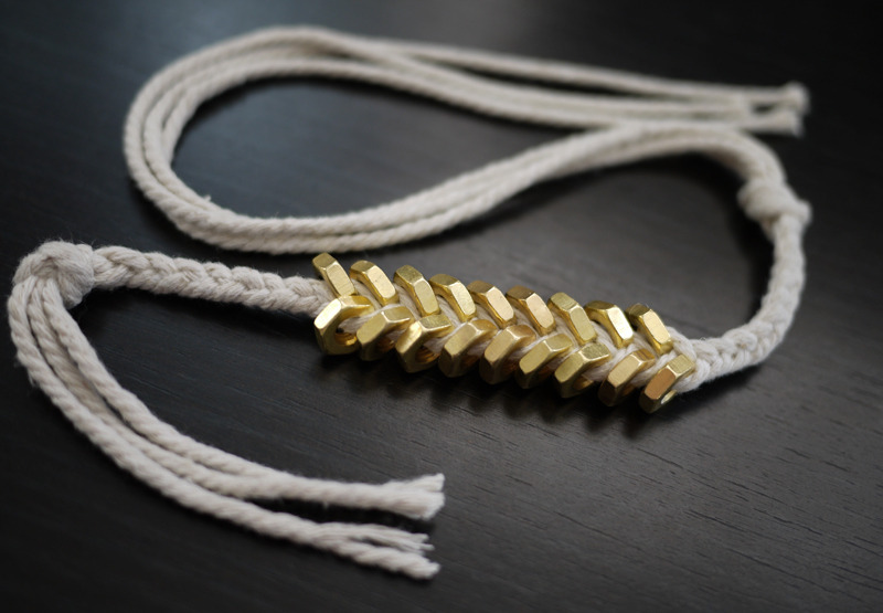 (via DIY Braided Hex Nut Bracelet – Honestly WTF) Another to add to my to do list!