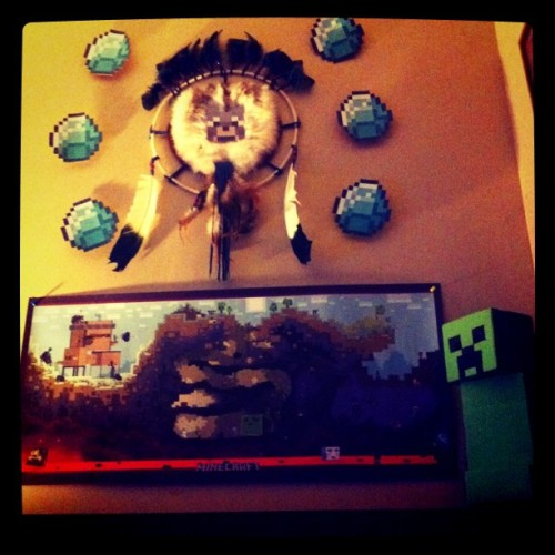 My super-awesome #minecraft wall! :D (Taken with instagram)