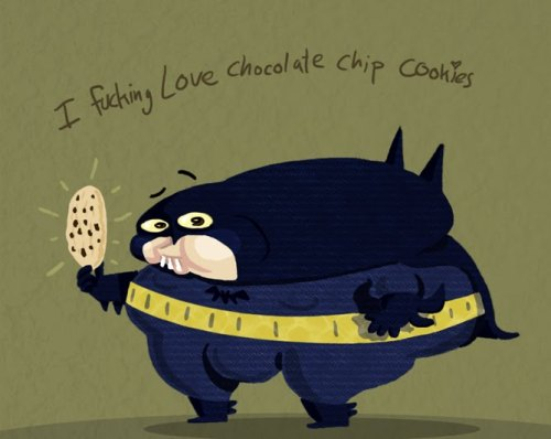 I fucking love chocolate chip cookies illustration by Noam Sussman :: via noamsussman.blogspot.com