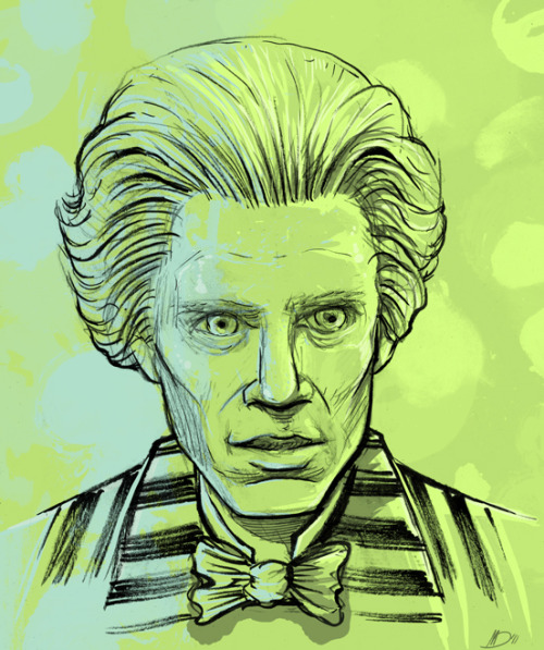 "sketchery:  ""Max Shreck"" by Melissa Dow ""Bottom line, she tries to blackmail me, I'll drop her out a higher window."" ; from the film ""Batman Returns"""