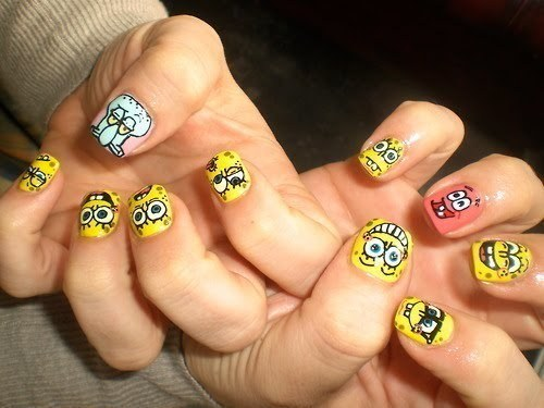 I LOVE THESE BIKINI BOTTOM NAILS!!
