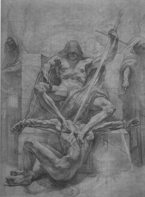 grumble-grumble:  Untitled prepatory sketch by Jean Delville, for the Palais de Justice in Brussels, c.1911-14