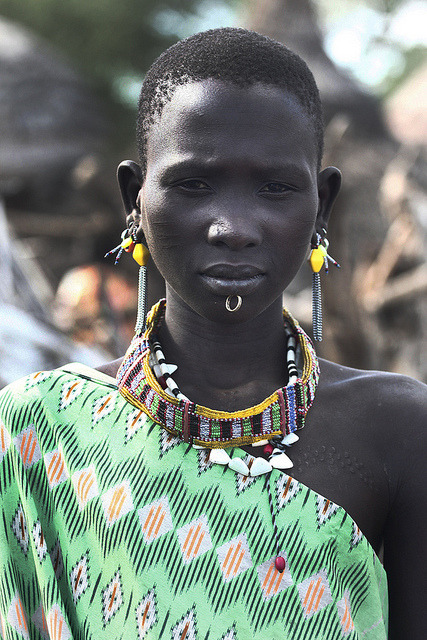 fyeahafrica:  Portrait of a Toposa woman from South Sudan.