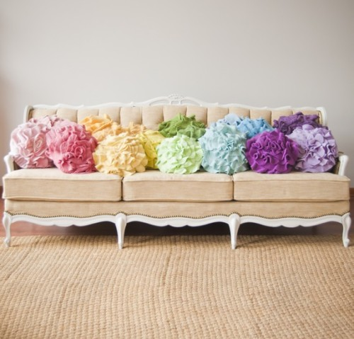 micasaessucasa:  (via Custom made ruffle rose pillow SMALL as seen by thatfunkyboutique)