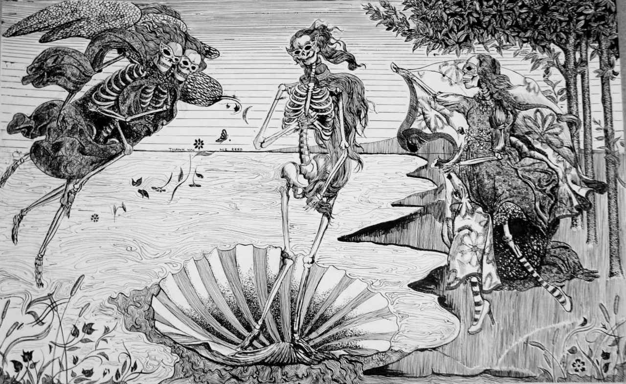 poisonwasthecure:  The Birth of Venus by José Guadalupe Posada