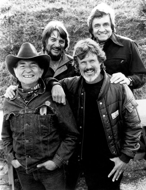 blackgoldofthesun:  The Highwaymen Willie Nelson, Waylon Jennings, Johnny Cash & Kris Kristofferson.