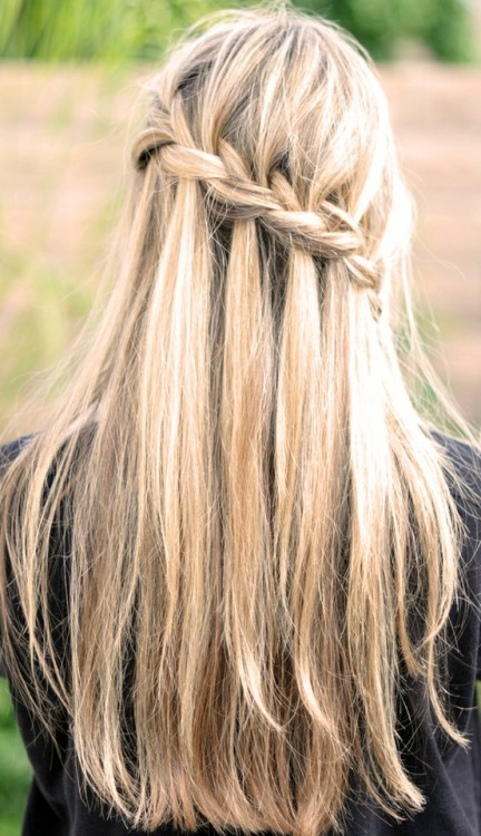 Obsessed with this. [waterfall braid]