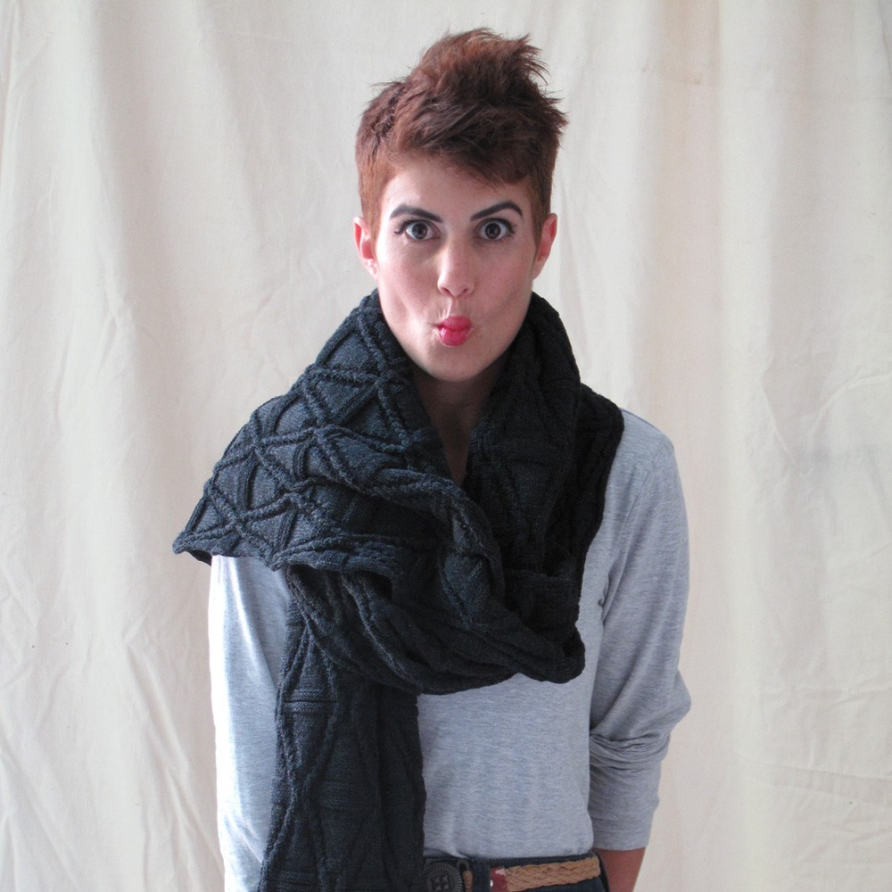 AndyVeEirn | Infinity scarf- merngo grey Loving the texture of this scarf … it could almost be classed as a shawl its that big!