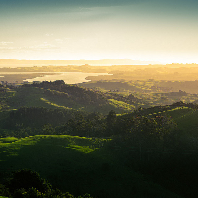 New Zealand Landscape Sunset by Momento Creative