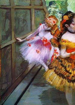 missfolly:  Ballet Dancers in Butterfly Costumes (detail) by Edgar Degas, ca. 1880