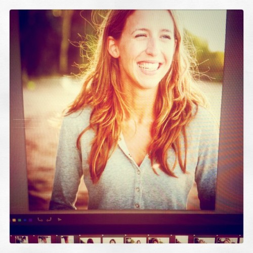 Editing some portraits of my cousin on the beach from this evening at Plage Albert… (Taken with instagram)