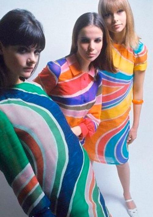 Dresses by Christian Dior, 1966.