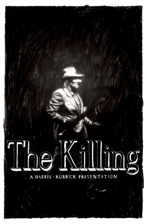Just watched Kubrick's The Killing and was really impressed! Sterling Hayden was born to be a film noir star. In honor of this amazing Criterion release I had to post Connor Willumsen's amazing artwork.