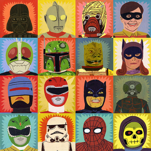 HEROES AND VILLANS   by Jack Teagle  via laughingsquid.com http://laughingsquid.com/heroes-and-villains-by-jack-teagle/