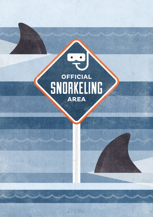 weandthecolor:  Official snorkeling area Graphic artwork by Hannes Beer. Thanks Hannes for adding your illustration to the WE AND THE COLOR Flickr-Group. More graphic design inspiration. posted byW.A.T.C. // Facebook // Twitter // Google+