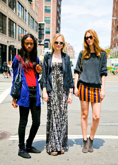 bonaelamour:  Nyasha Matonhodze, Siri Tollerod & Alana Zimmer (in) Model's Street Style 3 different models with 3 different and distinct street styles!
