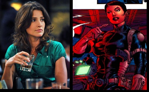 Cobie Smulders is Maria Hill in the Avengers movie? Whoa! I can't imagine it but she is pretty so yeah.