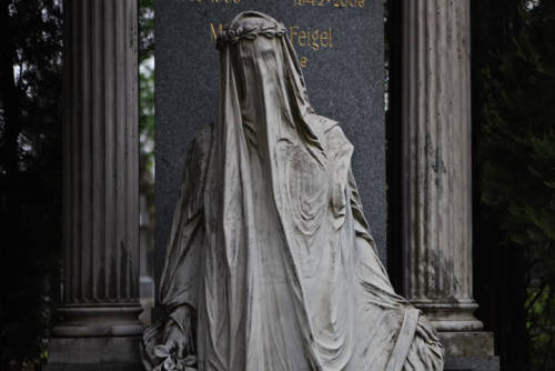 "The Veiled Lady The Zentralfriedhof (German for ""Central Cemetery"") is the largest and most famous cemetery among Vienna's nearly 50 cemeteries"