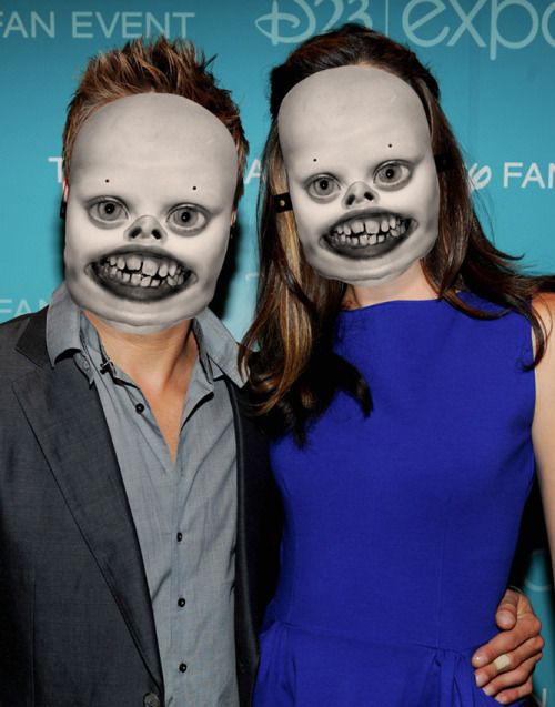 Jennifer Garner and Jeremy Renner at Disney's D23 Expo in Anaheim, August 20.