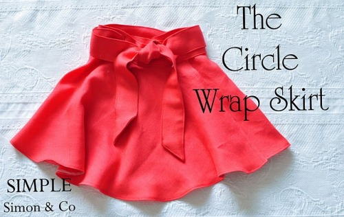 scissorsandthread:  Circle Wrap Skirt | The Crafting Chicks I think I've finally accepted the reality that the only thing I'm good at sewing is skirts. But there's no prolem with that because skirts and dresses are my unofficial uniform. I adore this simple flippy skirt (twirly skirts are the bomb) and the colour is amazing. I'm going to be buying some fabric this weekend and make this, pronto!