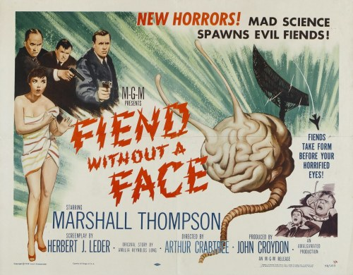 oldfilmposters:  Fiend Without A Face (1958) Trailer