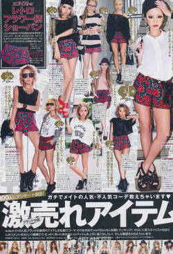best sellers in japan:retro floral shorts :3