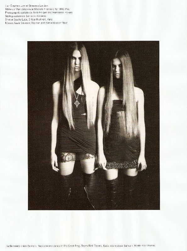 Karlie Kloss & Kasia Struss photographed by Paolo Roversi - i-D Magazine: December 2008 - Bad Girls, Sad Girls