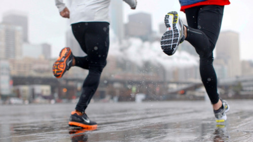runforfitness:  Fitness in any conditions  First really cold day here at Men's Health NYC. Won't be letting it slow us down, though.