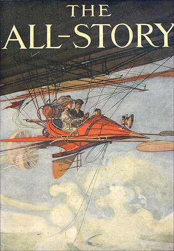 rectumofglory:  The All-Story cover by Harry Grant Dart, c. 1900-1910