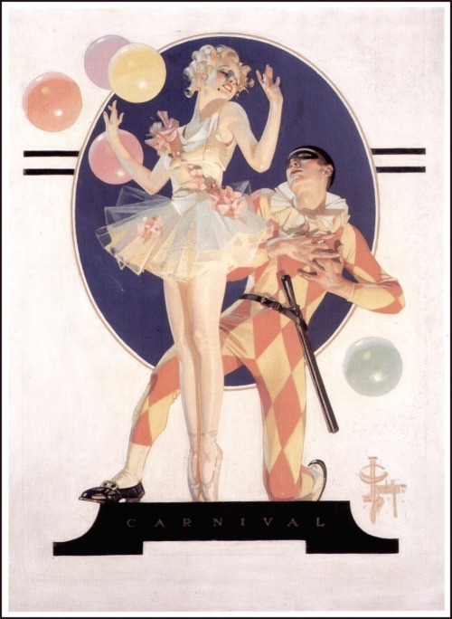 bumblr-jumblr:  Carnival - J.C. Leyendecker, 1923  I very literally let out an audible gasp upon seeing this on my dash just now.  I love this so much. I can't even express how much I love this.