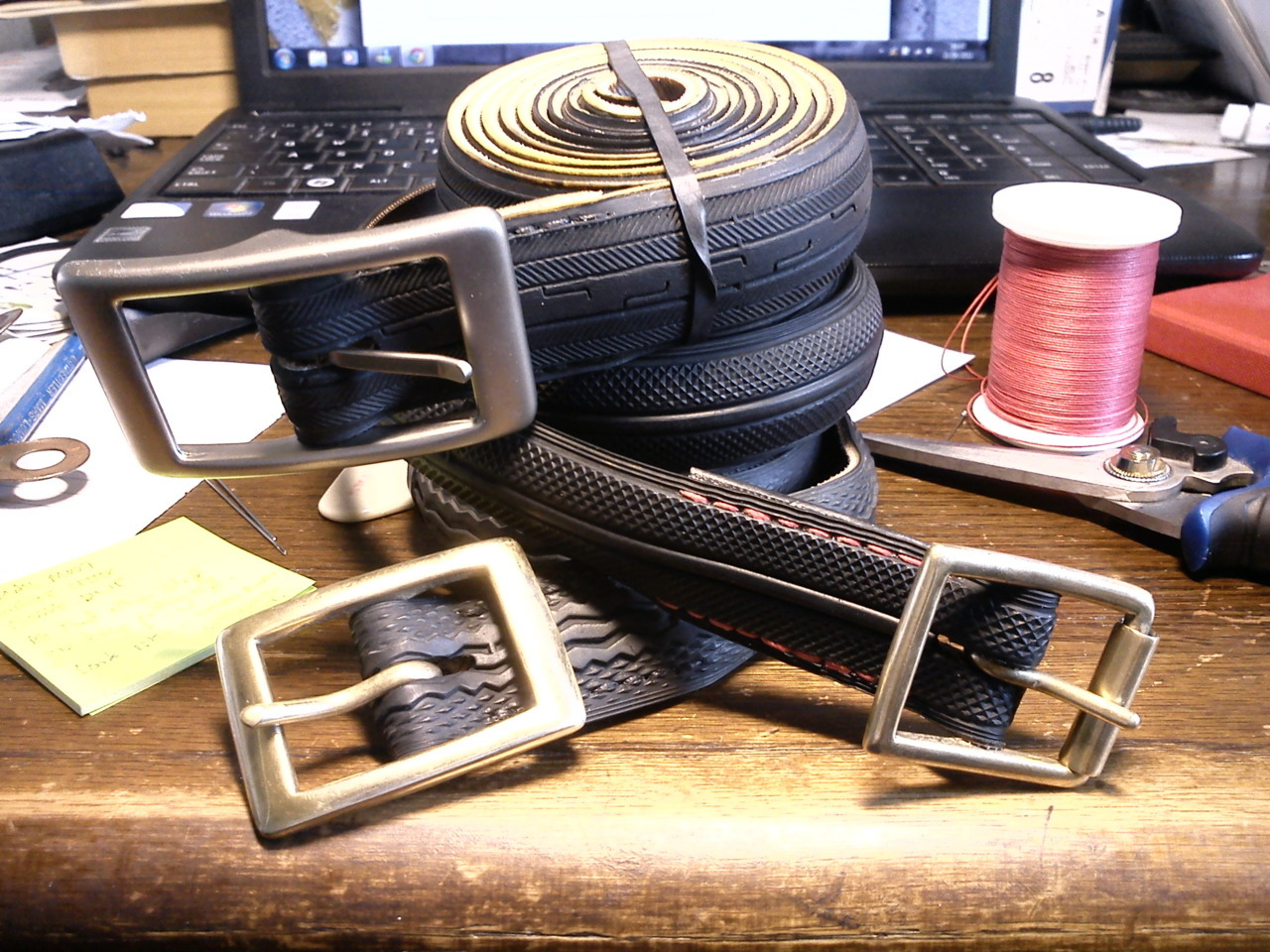 Three new belts. Done.