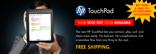 And if you can't get an HP TouchPad through Best Buy, HP themselves are still selling the $149 models.
