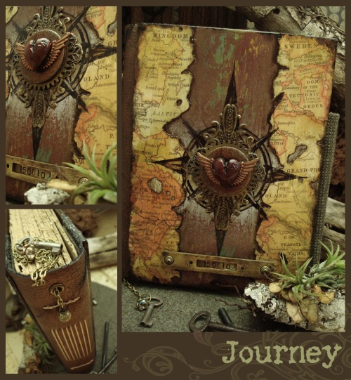 luthienthye:  ~ this journal is a commission … it represents a journey this lady is on and also another she's about to take. i really hope she likes what i created for her ~ Journey by Luthien Thye