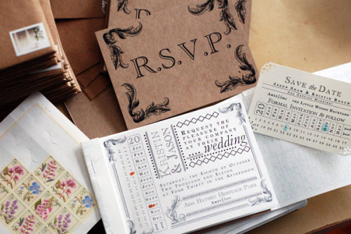 crafts leftovers' kristin roach explains how she made her own wedding invitations and shares a few tips on the matter. (via DIY Wedding: How I made my own invitations | Craft Leftovers)