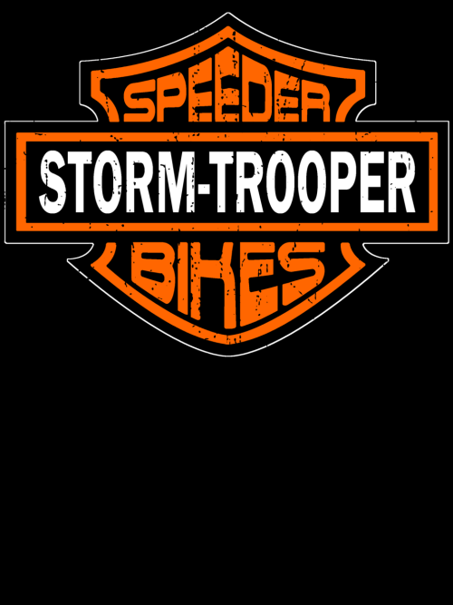 Storm Troopers, The most trusted name in Speeder Bikes! While their aim may be off, their bike quality is unmatched. Available as shirts or stickers: http://www.redbubble.com/people/mightyrain/t-shirts/7647214-speeder-bikes