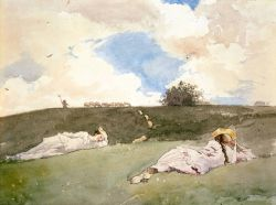 missfolly:  Shepherdesses Resting by Winslow Homer, 1879