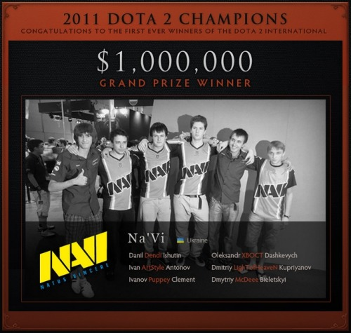 SteelSeries team Natus Vincere just won $1,000,000 playing Dota 2, at The International in Cologne. This is your ultimate comeback to anyone who ever told you, that playing computer games for a living couldn't put bread on the table. Or champagne for that matter.