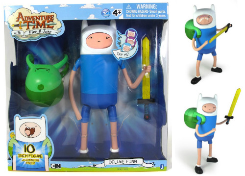 "albotas:  Adventure Time Deluxe Finn 10"" Figure With Changing Faces As a fan of Revoltechs and Figmas, I'm a sucker for figures with changeable faces, so it's pretty safe to say I'll definitely be picking up one of these Adventure Time figures from Jazwares Inc. No clue if they're out yet, but they're only $17.99 which isn't a bad price at all. (via Plastic and Plush)"