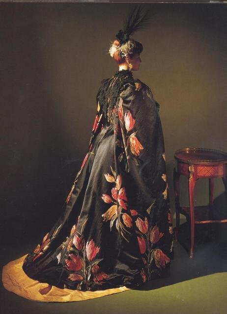 Robe (? Can't really tell what it is) by Worth, 1889 France