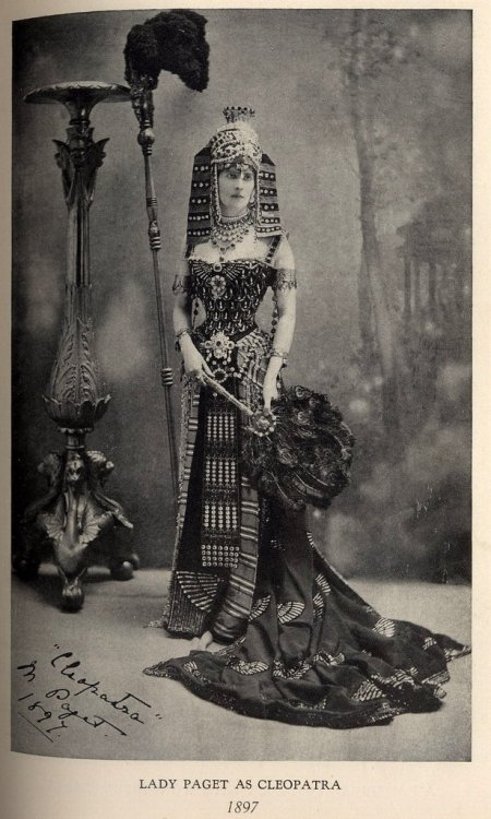 oldrags:  Cleopatra fancy dress by Worth, 1897