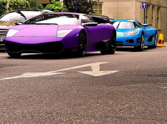 supercar-lane:  Lamborghini Murcielago LP670-4 SV and Koenigsegg CCXR by Ed Callow [ torquespeak ] on Flickr. Via Flickr:torquespeak.wordpress.com/ *EXPLORED* Highest: #391 - 18 July 2010 via supercar-lane.tumblr.com