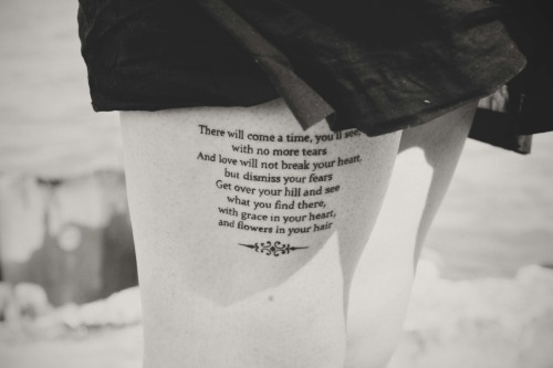 fuckyeahtattoos:  After the Storm by Mumford & Sons, because this song was there for me when no one else was. Done by Jake at Tatu Tattoo in Chicago. I'll never have anything but awesome things to say about that guy.