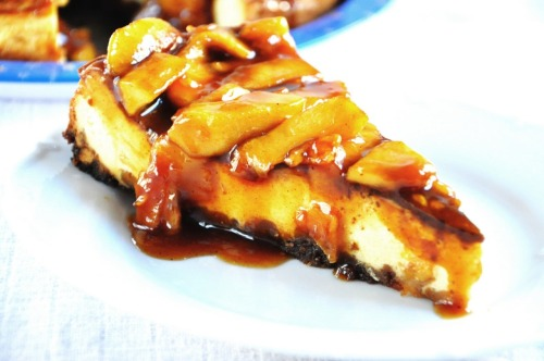 gastrogirl:  apple and caramel cheesecake.  That counts as a serving of fruit, right?
