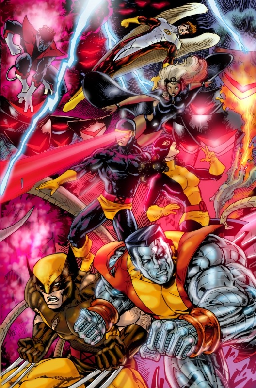 fuckyeaharchangel:  XMEN groupshot colors Gilbert Monsanto