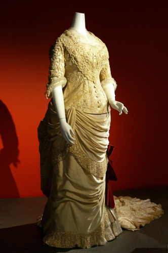 Evening dress by Worth, ca 1883 France