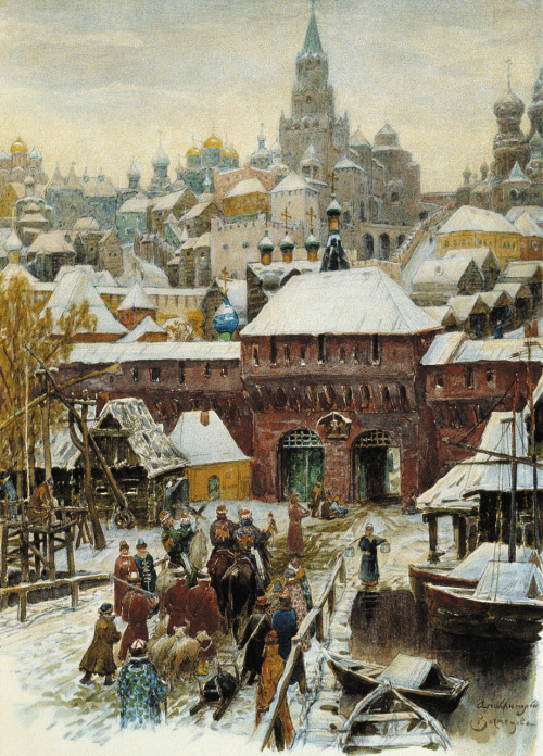 petitpoulailler:  welovepaintings: Apollinary Vasnetsov (Russian 1856-1933) ~ Moscow At the End of the 17th Century