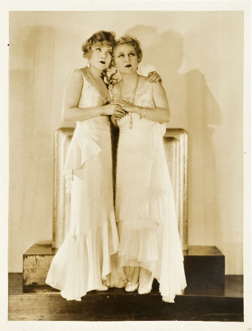 hedda-hopper:  The Duncan Sisters (1929), photo by George Hurrell