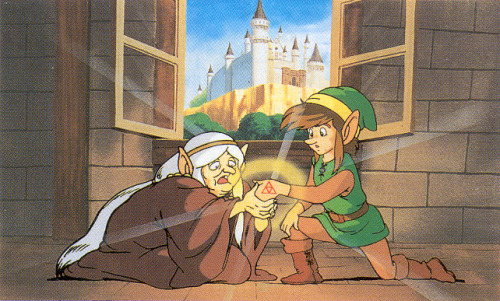 gameandgraphics:  Zelda II: The Adventure of Link original art (Famicom, 1987). Click one of the pics for zoom in mode!