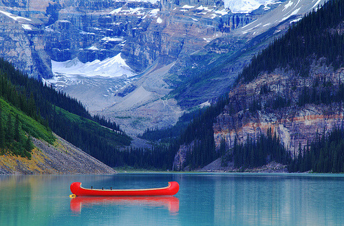 Abandoned in the Blue | Lake Louise, Alberta, Canada© Jim Boud