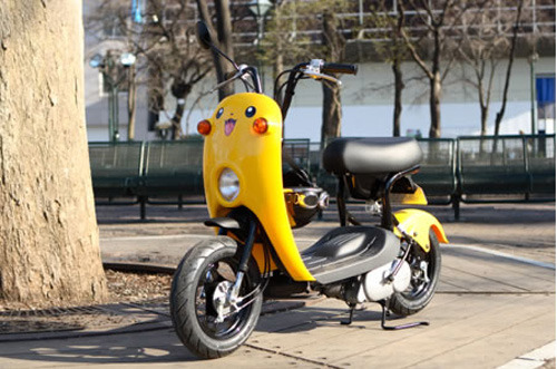 scooter pic of the day: maybe with this pikachu ride, you actually can catch 'em all. i wonder what sound the horn makes?